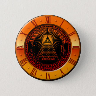 Eye of Providence clock 6 Cm Round Badge