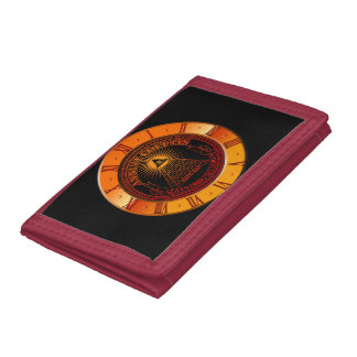 Eye of Providence clock Tri-fold Wallets