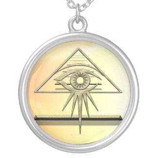 Eye of Providence Goldtone Silver Plated Necklace