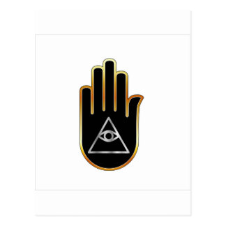 Eye of Providence in hand- religious symbol Postcard