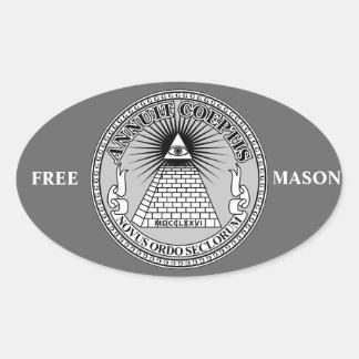 Eye of Providence Oval Sticker