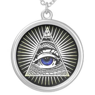 Eye of Providence Silver Plated Necklace