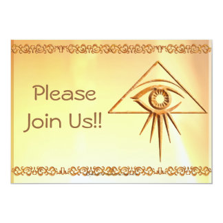 Eye of Providence Stone Card