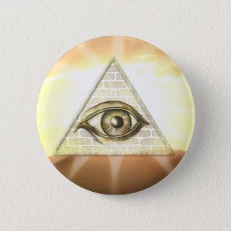 Eye of Providence Sunburst 6 Cm Round Badge