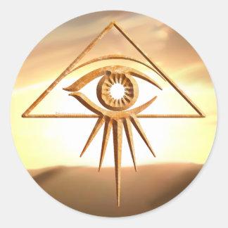 Eye of Providence Sunburst Stone Stickers