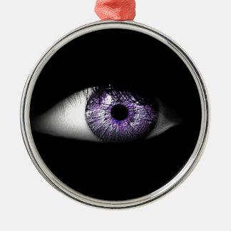 Eye of Purple Cute Cool Eyeball Design Christmas Ornament