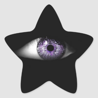 Eye of Purple Cute Cool Eyeball Design Star Stickers