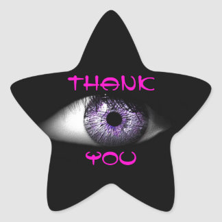 Eye of Purple Cute Cool Eyeball Design Sticker