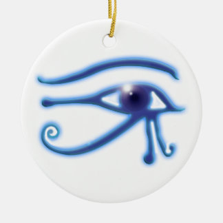 Eye of Ra Ancient Egyptian Wadjet Symbol Christmas Ornament