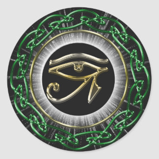 Eye Of Ra Classic Round Sticker