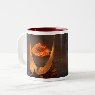 Eye of Sauron tower Two-Tone Coffee Mug