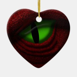 Eye of the Dragon Ceramic Heart Decoration