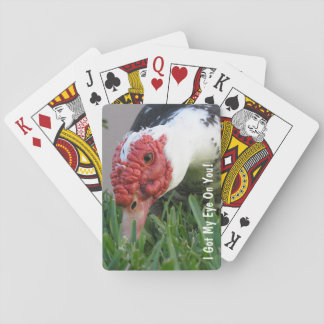 Eye of the Duck Close-Up Photograph Poker Deck