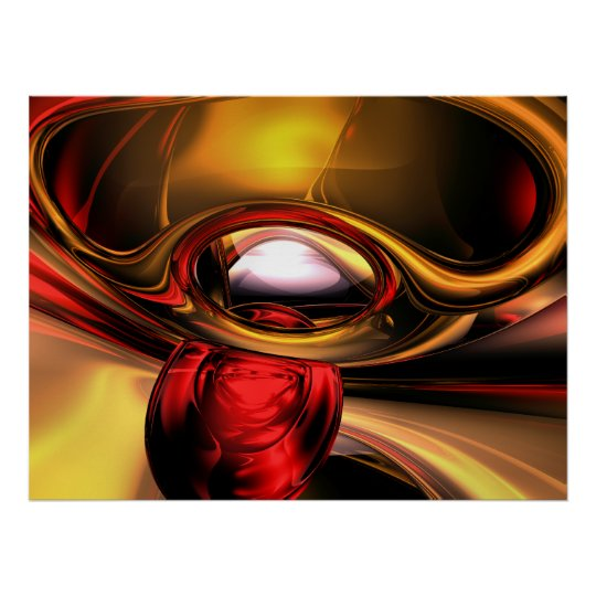 Eye of the Gods Abstract Poster