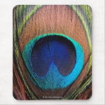 Eye of the Peacock Feather Close-Up Mousepad