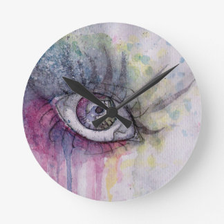 Eye of the Rainbow Round Clock