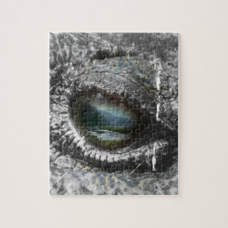 Eye Of The Reptile Jigsaw Puzzle