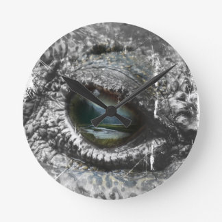 Eye Of The Reptile Round Clock