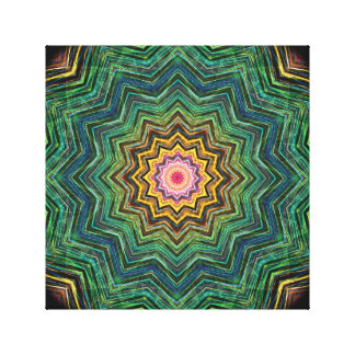 Eye of the Star Kaleidoscope Canvas Print