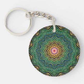 Eye of the Star Kaleidoscope Double-Sided Round Acrylic Key Ring
