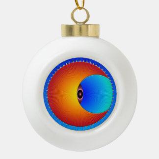 Eye Of The Sun Ceramic Ball Ornament
