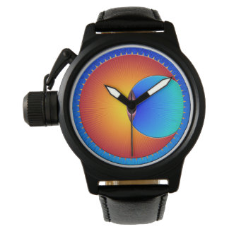 Eye Of The Sun Protector Leather Watch