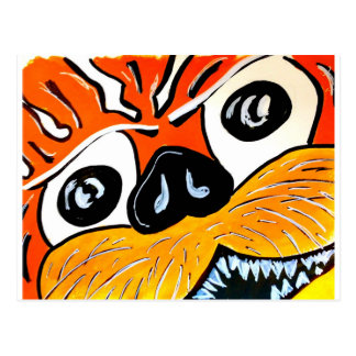 Eye of the tiger postcard