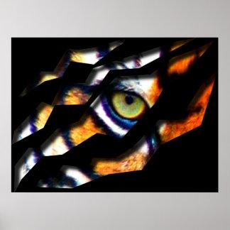Eye Of The Tiger Tear Through Poster