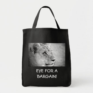 Eye Of The Tiger Grocery Tote Bag
