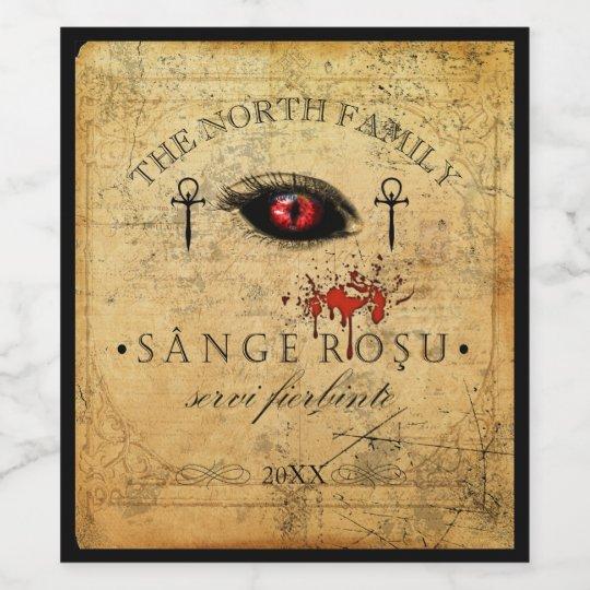 Eye of the Vampire Blood Red ID439 Wine