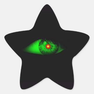 Eye of Witch Cool Halloween Design Star Sticker