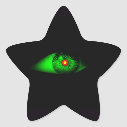 Eye of Witch Cool Halloween Design Stickers