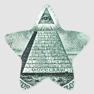 Eye On The Dollar Illuminati Pyramid Star Stickers