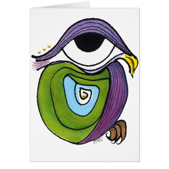 Eye, Parrot Notecard