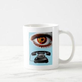 Eye Phone Artwork Cool and Eye-catching Basic White Mug