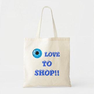 EYE (pic of Eye) Love to Shop Bag
