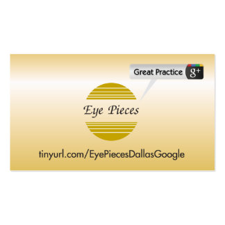 Eye Pieces Dallas Pack Of Standard Business Cards
