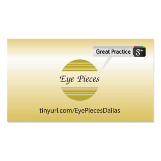 Eye Pieces Dalls Double-Sided Standard Business Cards (Pack Of 100)