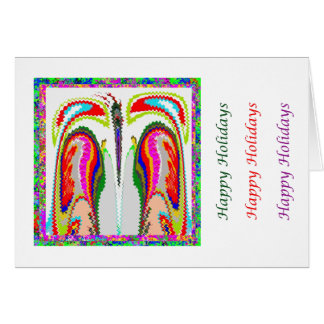 Eye Popping Art -  HappyHoliday Intimate Couple Greeting Card