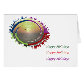 Eye Popping Art -  HappyHoliday Intimate Sunset Greeting Card