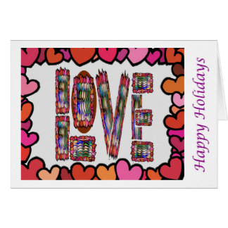 Eye Popping Art - Love Intimate HappyHoliday Greeting Card