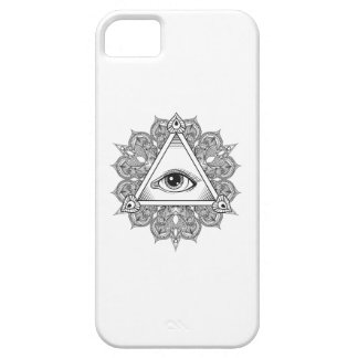 Eye Pyramid Symbol Doodle iPhone 5 Covers