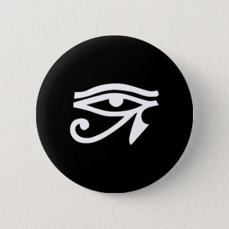 Eye Ra Horus Black 6 Cm Round Badge