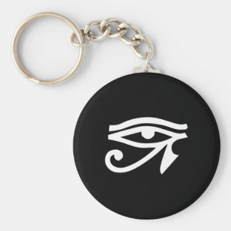 Eye Ra Horus Black Basic Round Button Key Ring
