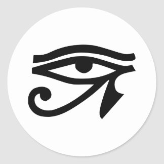 Eye Ra Horus Classic Round Sticker