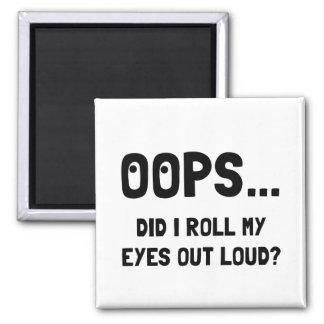 Eye Roll Square Magnet