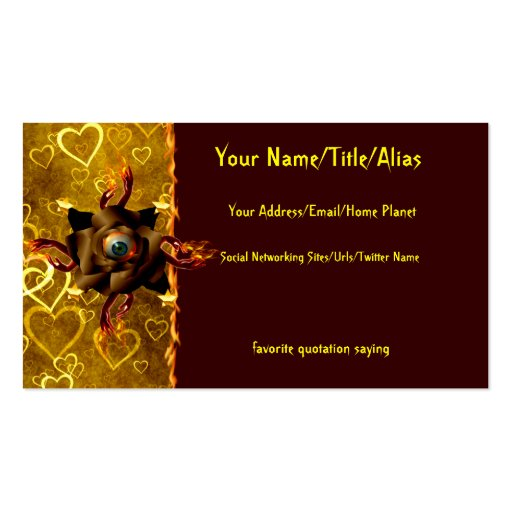Eye Rose Business Card Templates