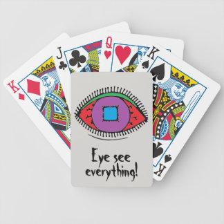Eye see everything Cool Eye Design Bicycle Playing Cards