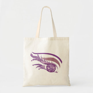 "EYE SEE YOU ""JUNE LIGHT PURPLE AMETHYST"" TOTE BAG"