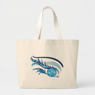 "EYE SEE YOU ""MARCH AQUAMARINE"" LARGE TOTE BAG"